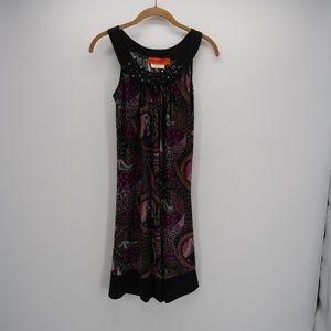 Urban Mango Embellished Sleeveless Paisley Dress